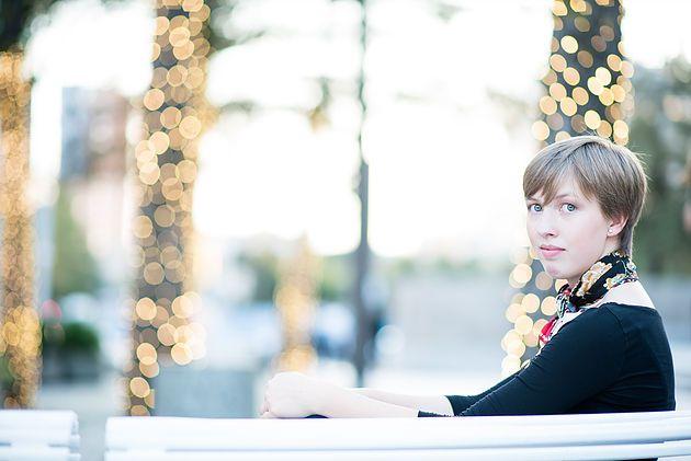 Kelly McMullin Photography Senior Girl Dallas Christmas lights