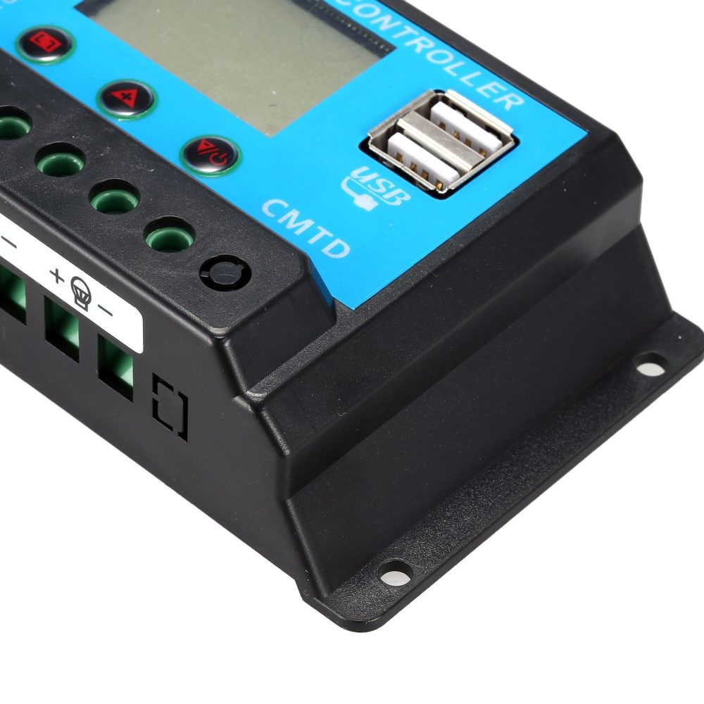 Anself 10a 126v Lcd Solar Charge Controller Pwm Charging Regulator Only Us1007