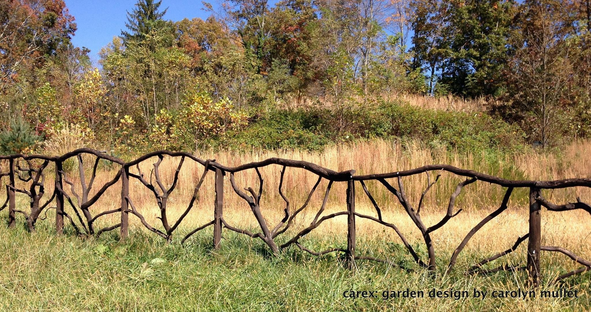 Beautifully Crafted Fence Along A Country Road Outside Of Asheville,