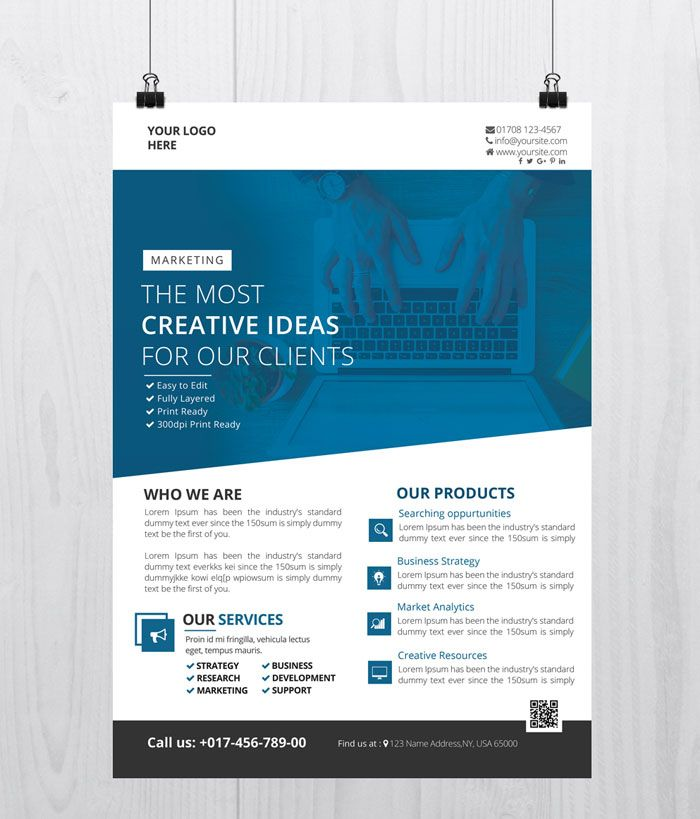 Best Free Business Flyer And Brochure Templates In Psd Test
