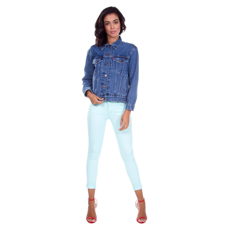 Jaqueta Jeans Levis Trucker Ex Boyfriend - lojalevis  dfae9981016