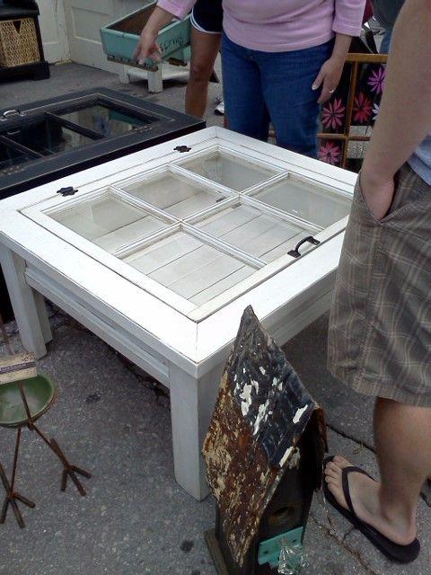 Window Pane Coffee Table - end tables?? Cute idea ...