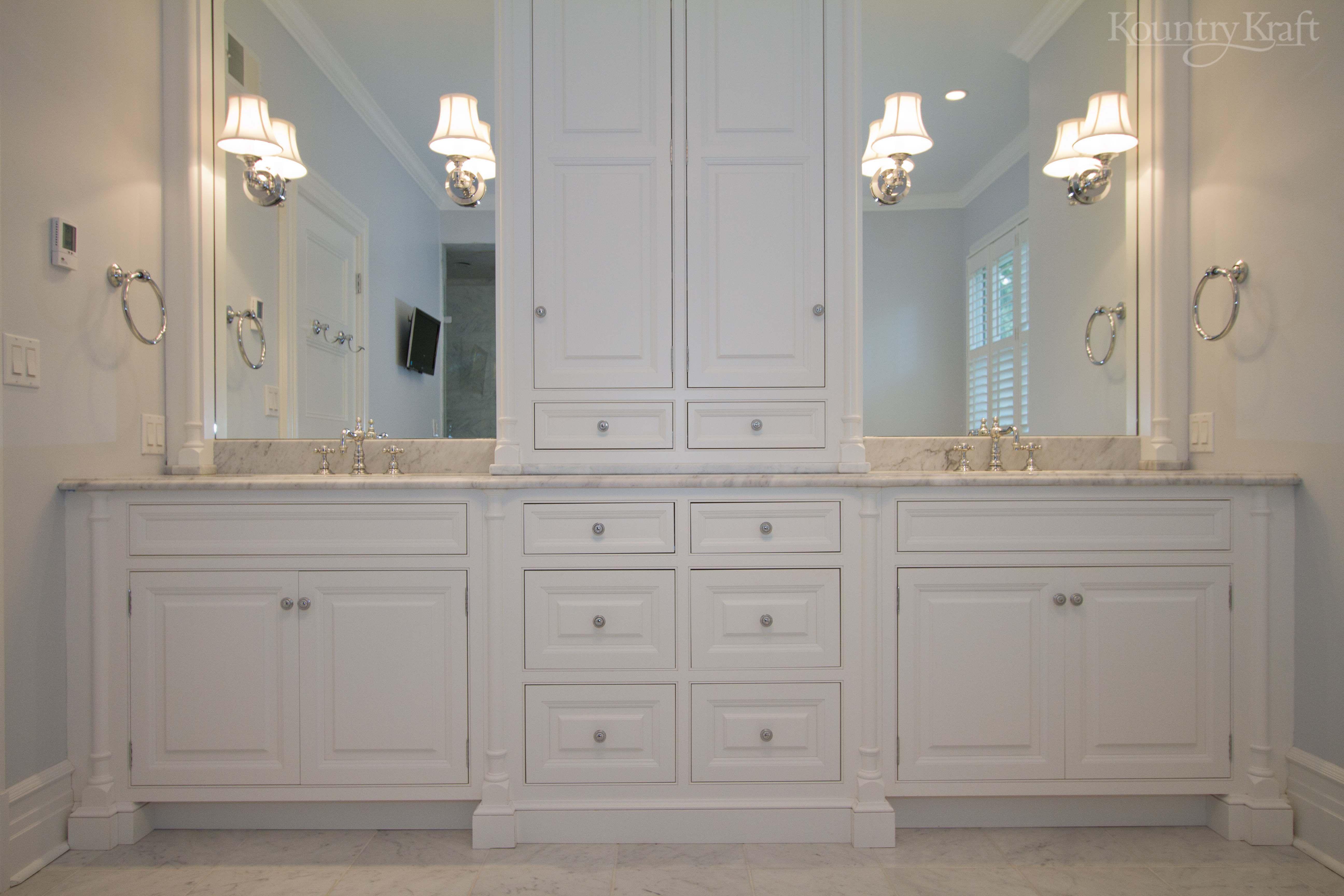 White Bathroom Cabinets In Ridgewood Nj Designed By James Kershaw Associates White Bathroom Cabinets Custom Bathroom Vanity Bathroom Cabinets