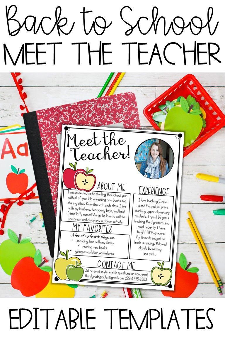 Meet The Teacher Template Editable Meet The Teacher Template Meet The Teacher Teacher Templates