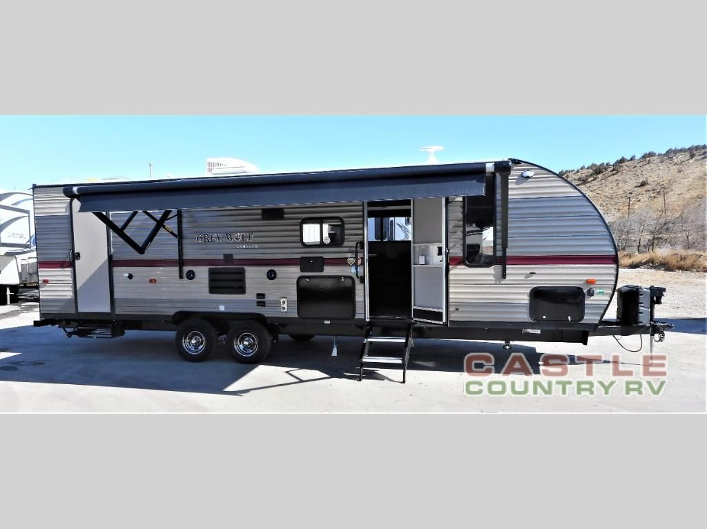 New 2019 Forest River Rv Cherokee Grey Wolf 26dbh Travel Trailer