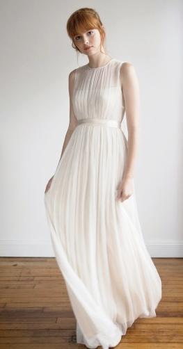 simple minimalist wedding dress  227515757633