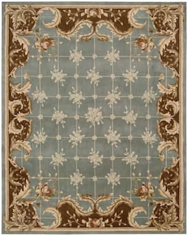 Nourison Blue Julian Jl59 Rug Traditional Rectangle 7 6 X 9 6 Floral Rug Area Rugs Blue Area Rugs