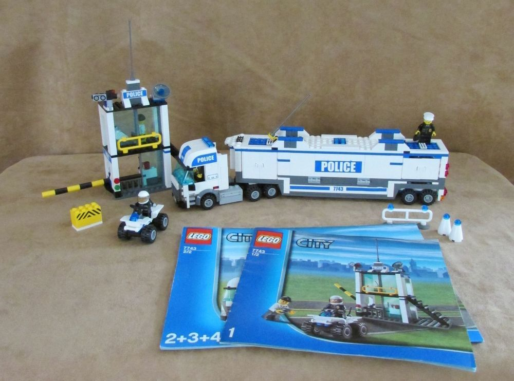 7743 Lego Complete Instruction City Police Command Center Transport