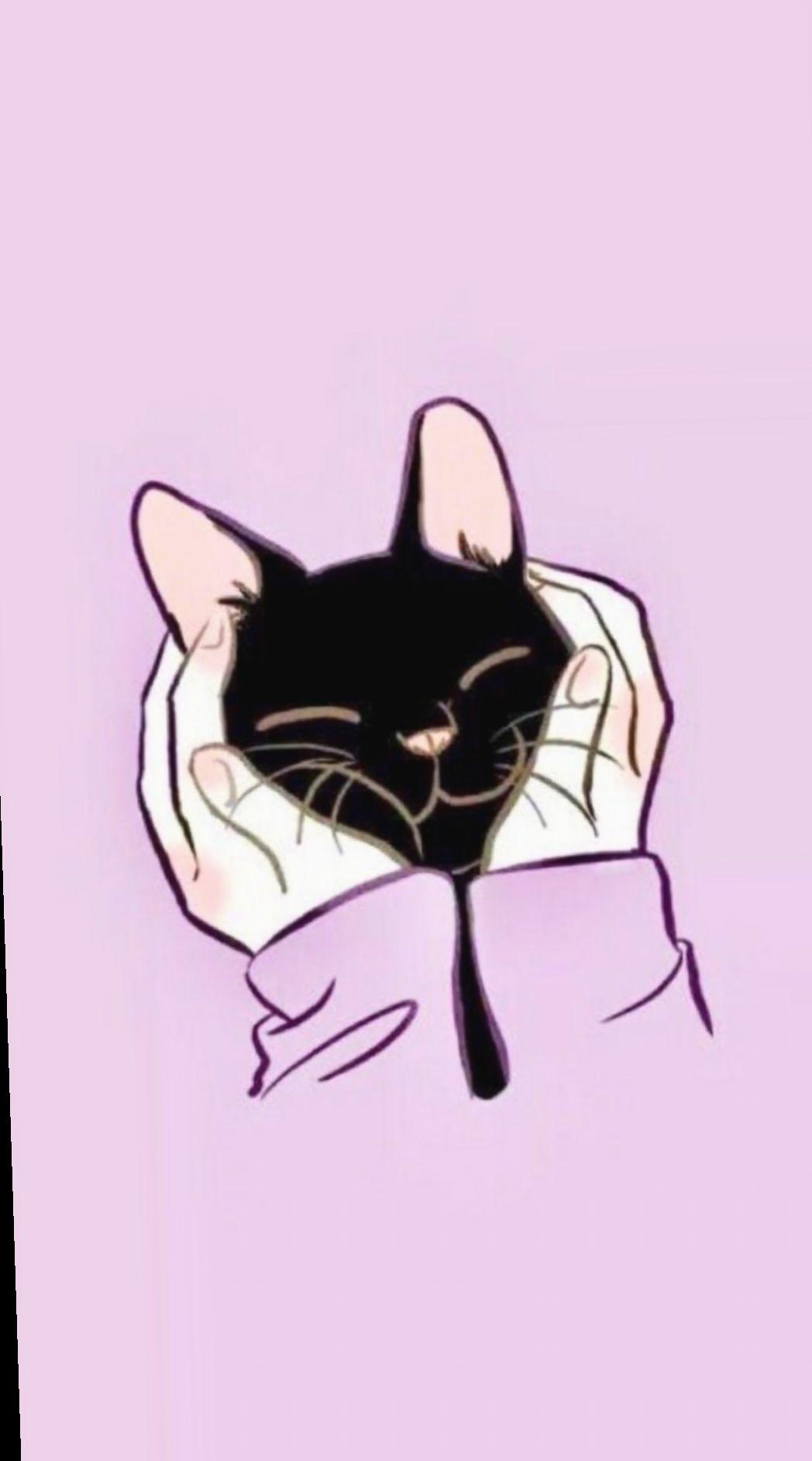 Cute Illustration Cat Kawaii Candy Ensaioinfantil Mundorosa Kitten Wallpaper Cat Wallpaper Cute Cartoon Wallpapers
