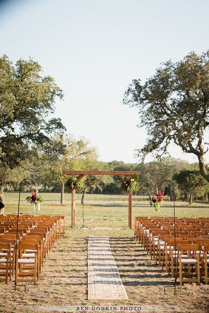 outdoor ceremony with @Pearl Events Austin