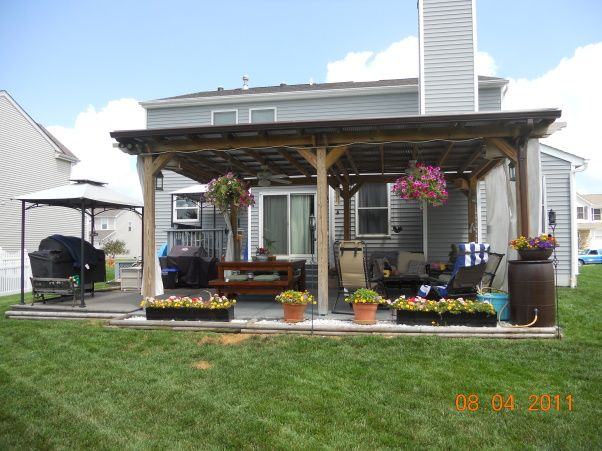 16 Feet By 14 Feet Pergolas Pergola Heaven Our Pergola Is 16 X 22 It Is Covered Due To The Patio Deck Designs Patio Deck Covered Pergola