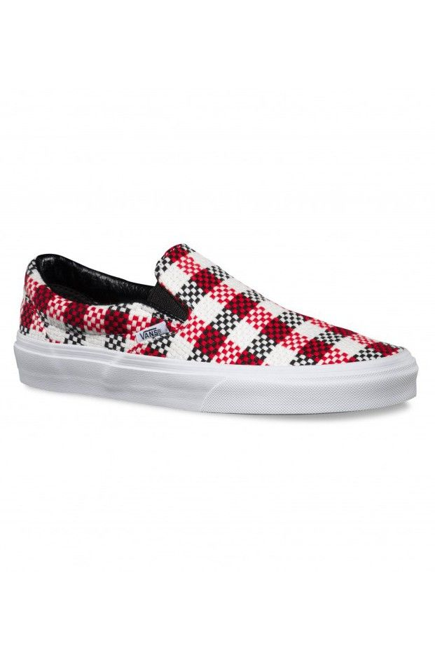 Scarpa Vans Classic Slip-On Checher Plaid Black True White
