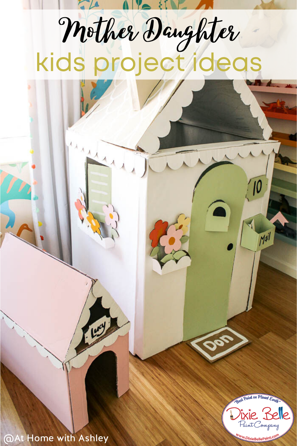Mother S Day Activity Ideas In 2020 Cardboard Box Houses Cardboard House Cardboard Houses For Kids