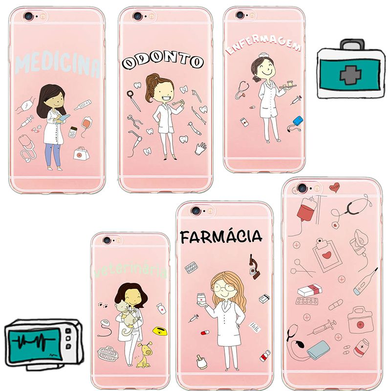 Ciciber Cute Doctors Love Heart Doctor Nurse Phone Cases For Iphone 7 8 6 X 7 Plus Silicone Hard Pc Hybrid Coque Cover Cellphones & Telecommunications