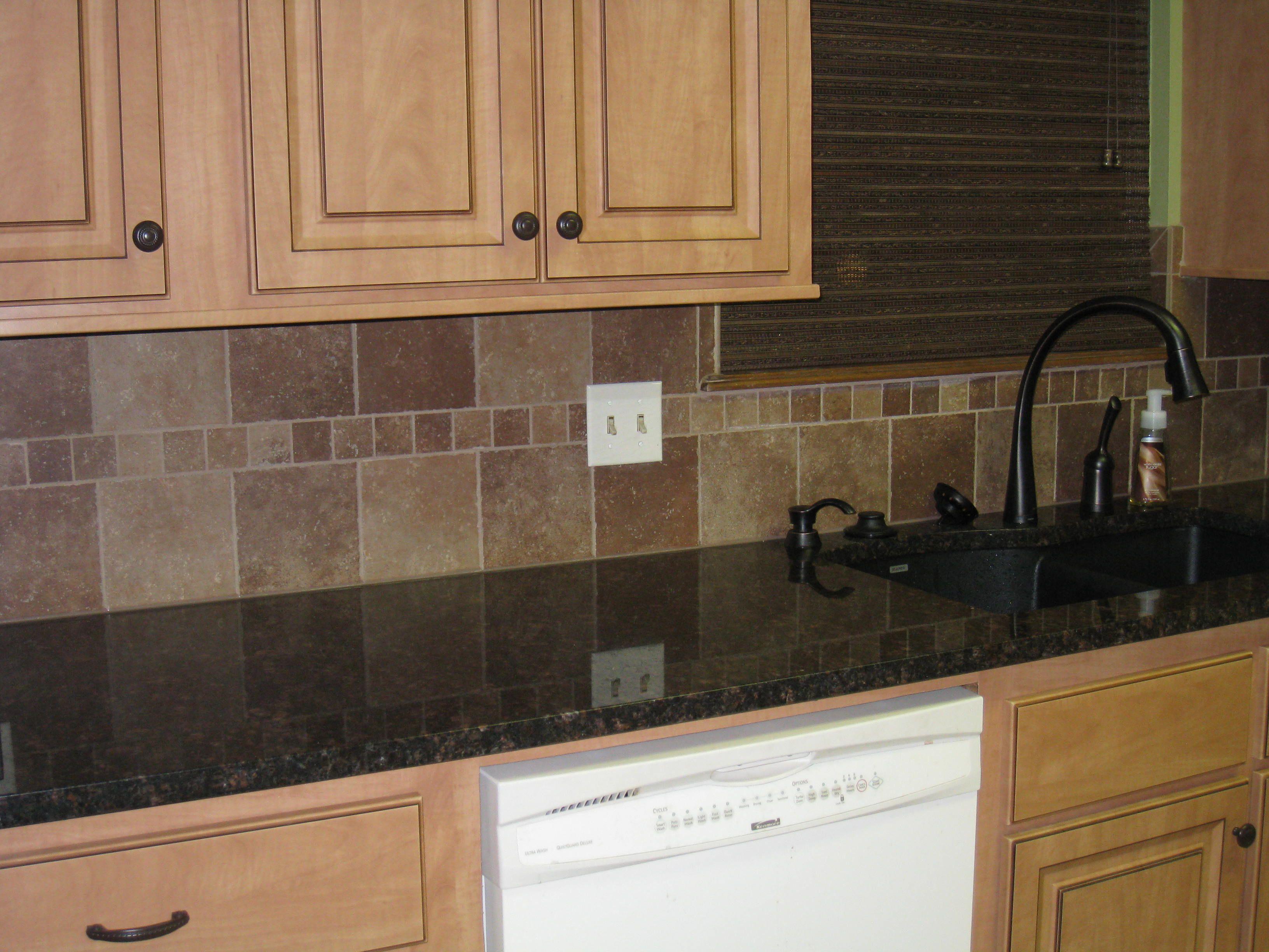 Reface, backsplash, granite, 60/40 sink, goose neck faucet ...