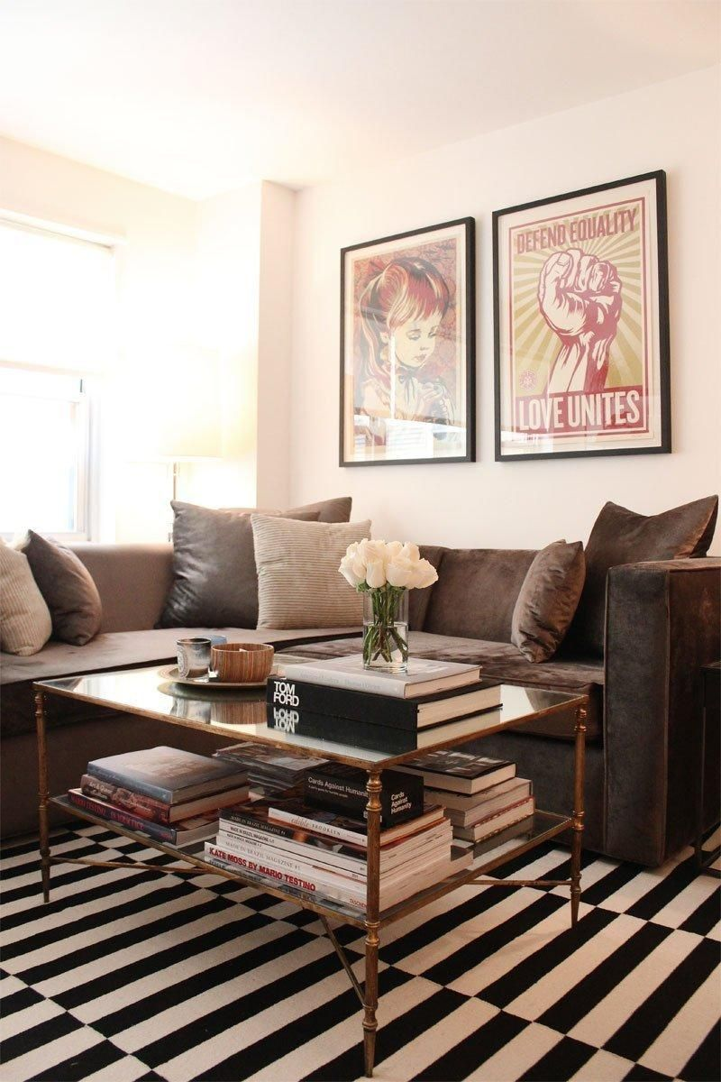 Ross S Greenwich Village Home Brown Living Room Decor Brown Couch Living Room Brown Sofa Living Room Brown and white living room