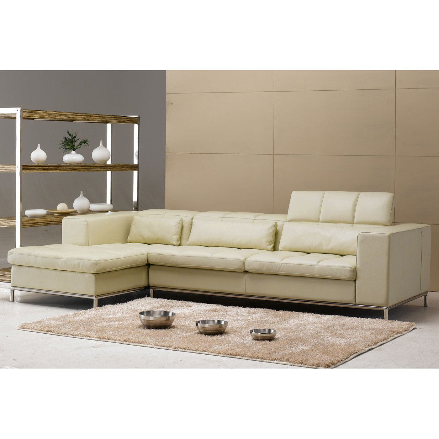 Have To Have It Tosh Furniture Modern Beige Leather Sectional