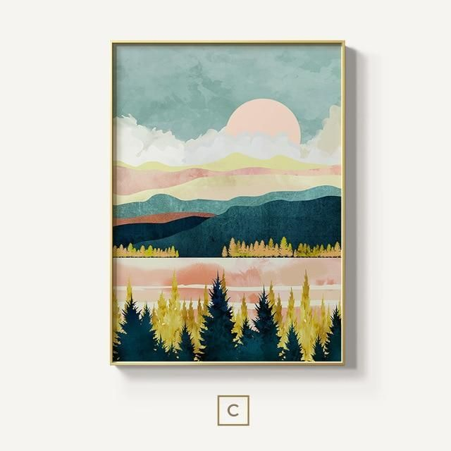 Smoky Mountain Pastel Sunset Wall Mural By Cascadia Society6 Pastel Sunset Sunset Art Sunset Canvas
