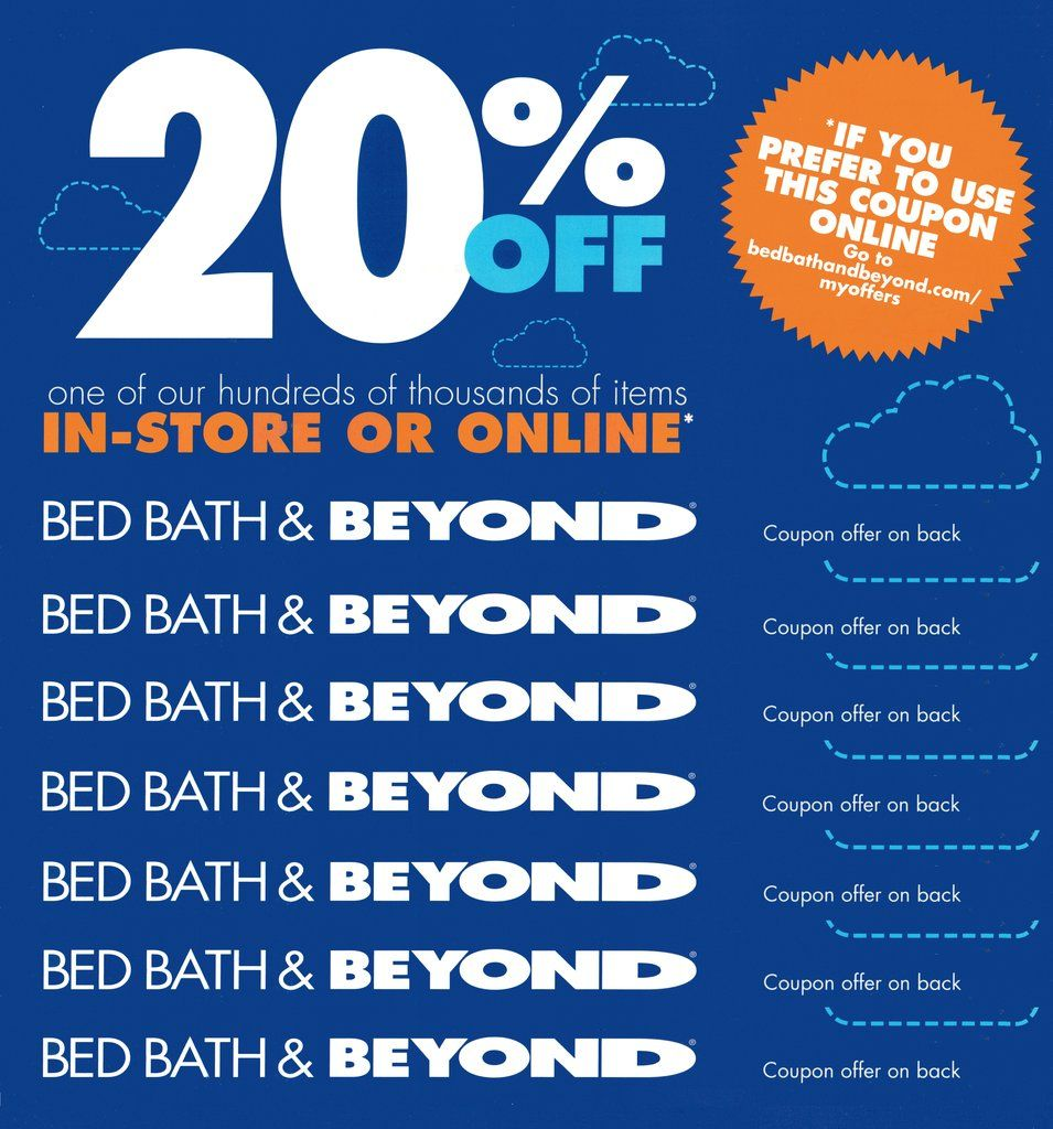 70 COUPONS! Bed Bath & Beyond 20 off One Item−InStore