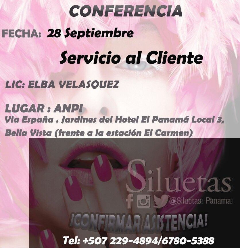 @siluetaspanama los invita a partcipar de esta conferncia es gratuita  solo para clientes activos