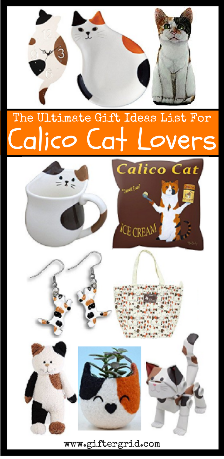 Over 50+ gift ideas for those who love Calico cats! These are gifts that are perfect for any occasion all year round. This is linked to our cat themed post, which has more gift ideas in including gifts of experiences, DIY and cat craft projects and charitable causes. Find the perfect present for the cat lovers on your list!