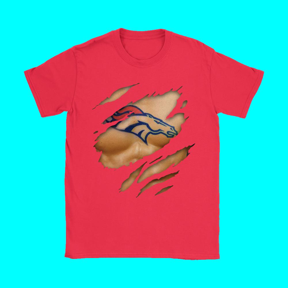 NFL Football Logo 3D Art Chest Denver Broncos Tattoo