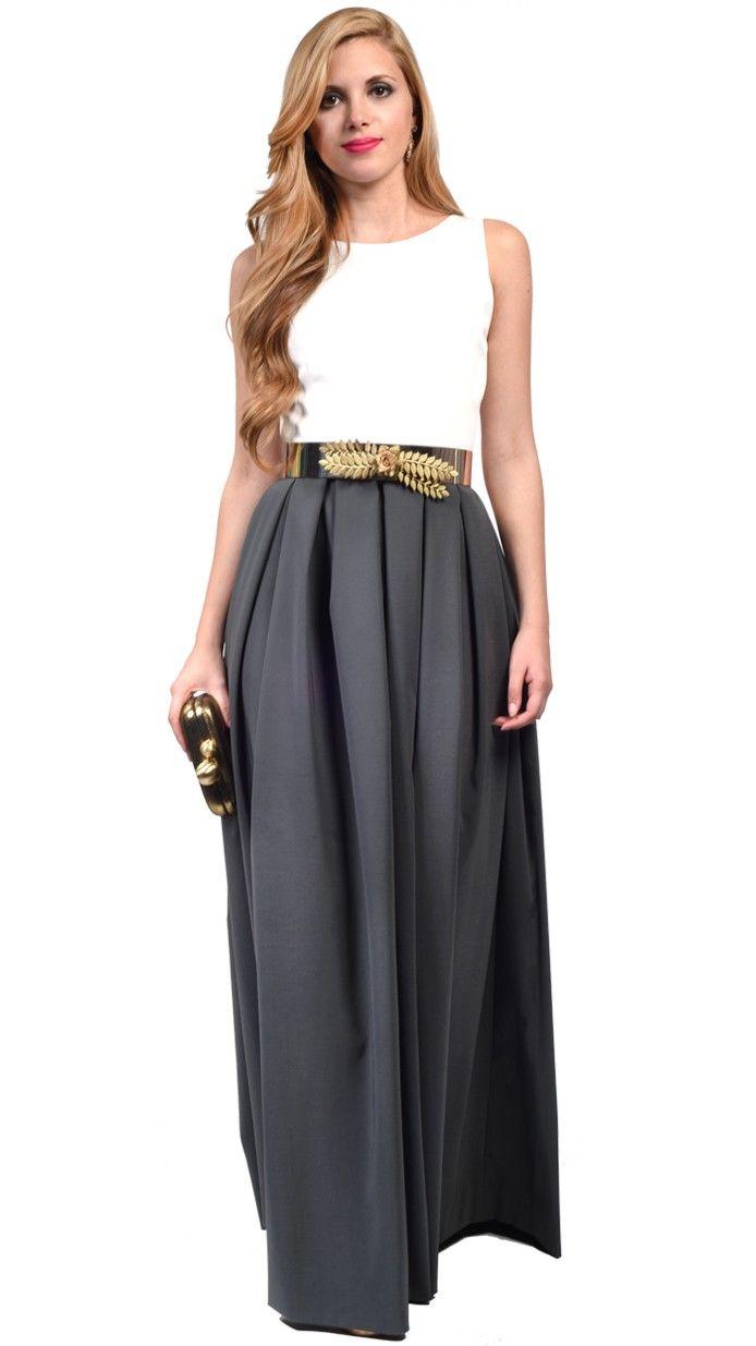 vestido largo para dama de honor sin espalda