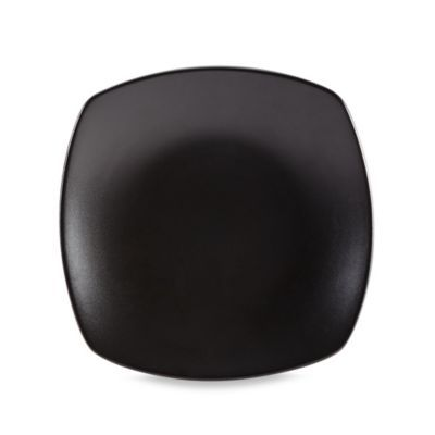 Gibson Home Paradiso Couple Square Dinner Plate in Black ...
