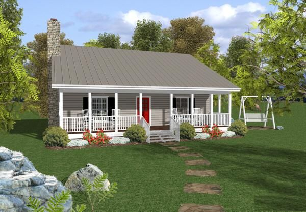 House Plan 036 00005 Cottage Plan 953 Square Feet 2 Bedrooms 1 5 Bathrooms In 2021 Ranch House Plans Ranch Style House Plans Cottage Style House Plans