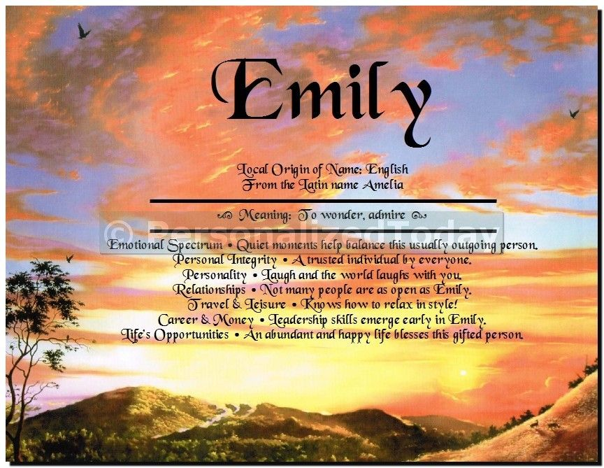 Name Personalized Art Print First Origin History Meaning And Personality Characteristics Associated With