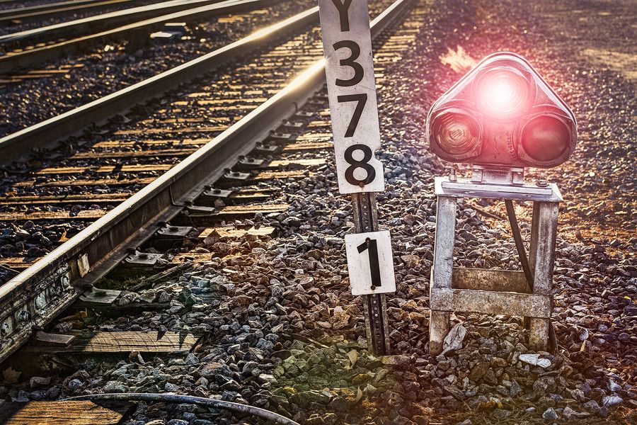 Train Rail Tracks Light 2. by Mark Harbin on 500px