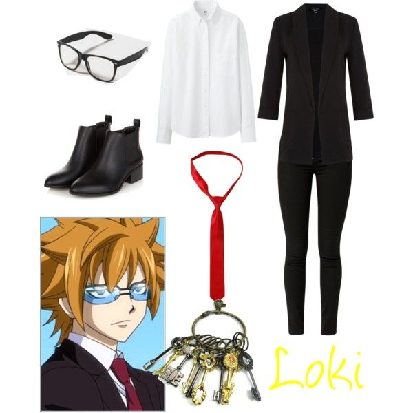 Loki (Fairy Tail) by syrena-acuna on Polyvore featuring polyvore, fashion, style and Uniqlo