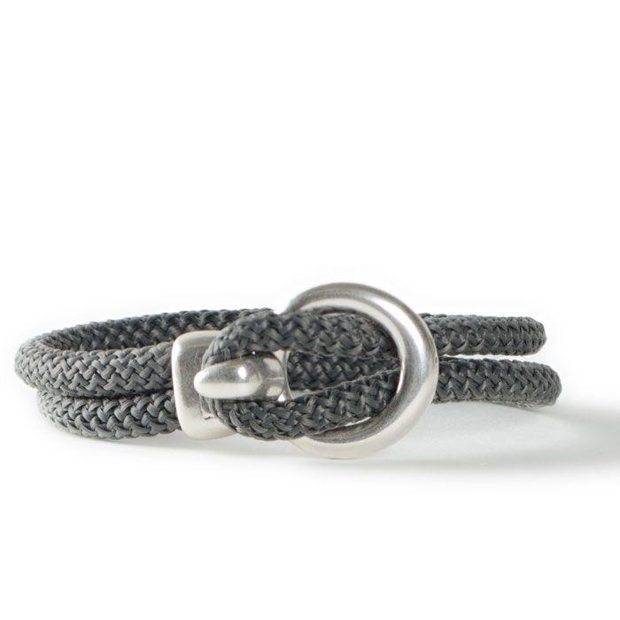 Lederarmband verschlüsse  Armband mit Segelseil und großem Verschluss aus Metall ...