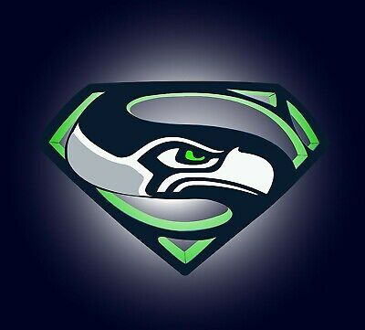 Details about Seattle Seahawks Iron On Transfer For T-Shirt + Light & Dark Fabrics #4