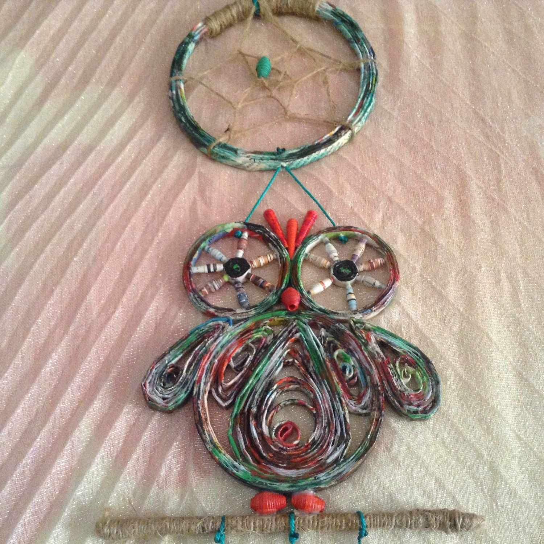 Dreamcatcher Chouette Mobile Handmade Chouette Par Ethnicdrops