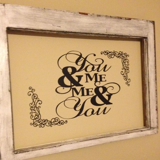 Bedroom wall art using silhouette cameo and old window | margaret ...