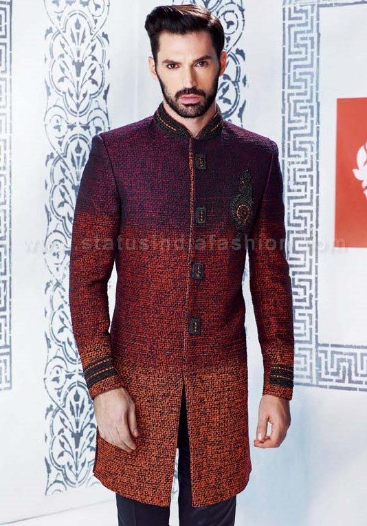 Sherwani For Men Uk Asian Clothes Wedding Indian Indo Western Mens
