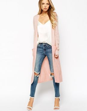Now at Luna Azul. Long vest Vila, destroy jeans and lace… - shop ...