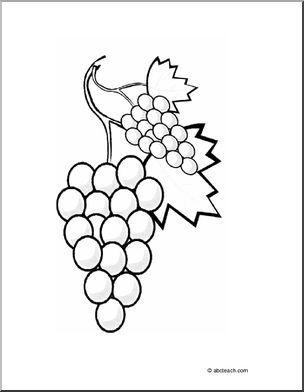 Coloring Page Grapes Color This Bunch Of Grapes Coloring