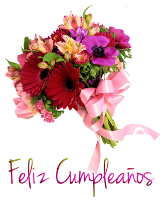 Imagenes De Happy Birthday Con Flores