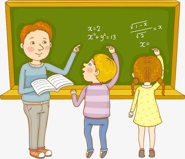 Math Class Teacher And Student   Math cartoons, Kids ...
