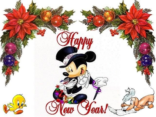 happy new year mickey mouse wallpaper wallpaper with mickey mouse chick and dachshund wishing happy new year happy new year mickey mouse