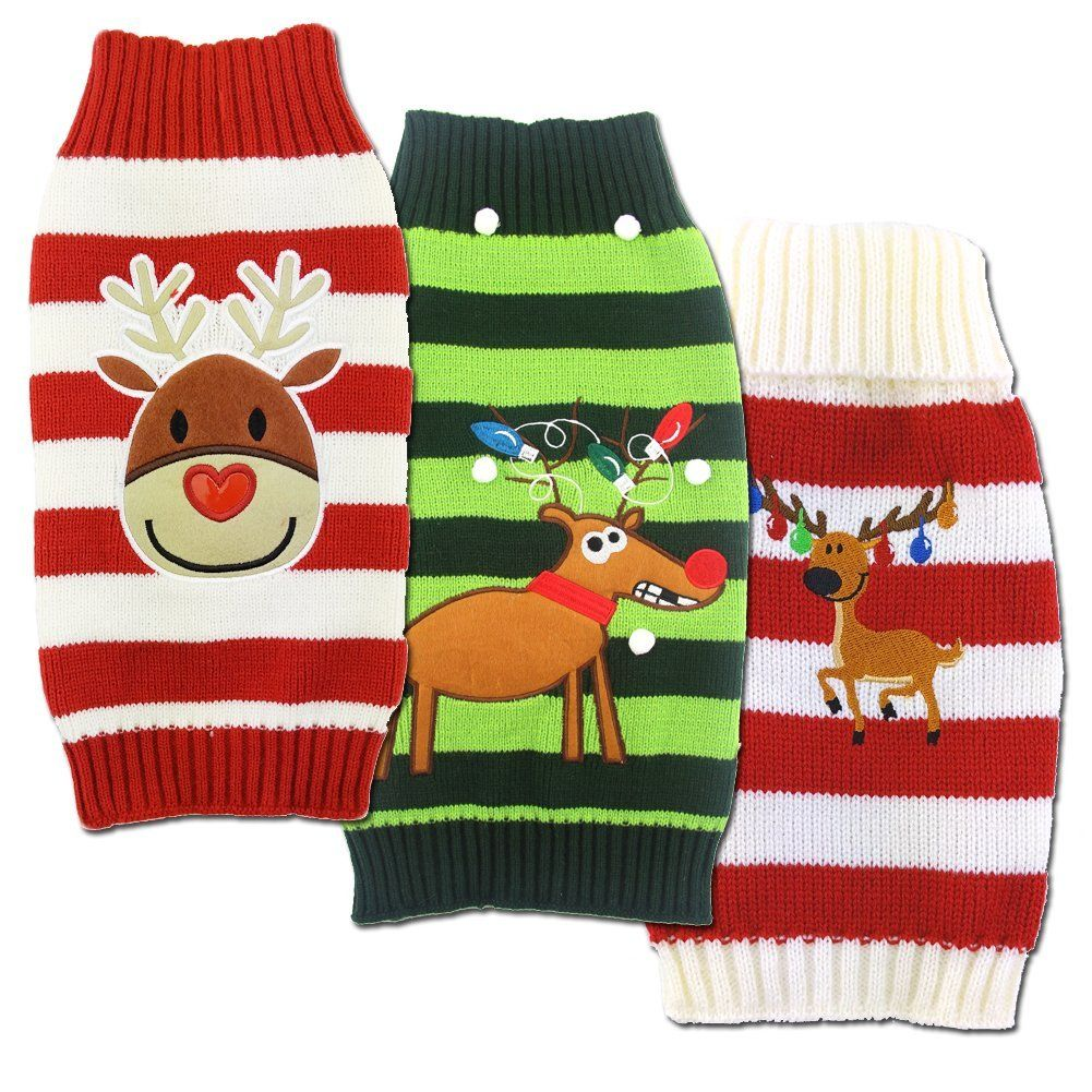 nacoco dog snow sweaters snowman sweaters dog sweaters new year christmas sweater pet clothes for small