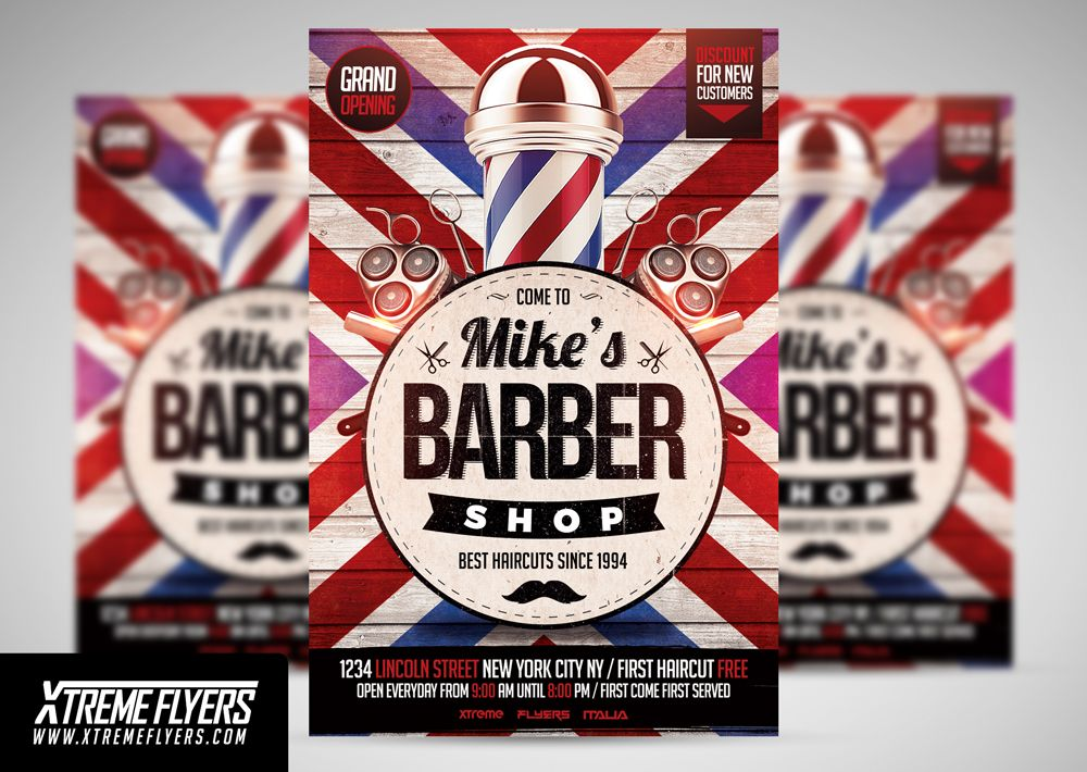 barbershop flyer template by xtremeflyers on creativemarket