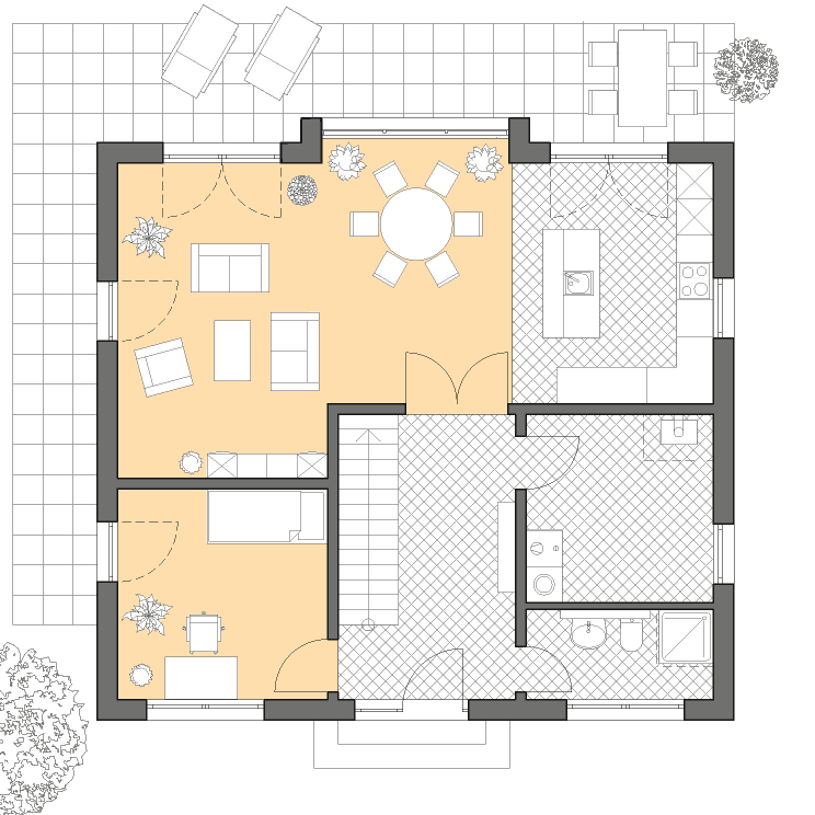 moderne h user haus hamburg grundriss erdgeschoss grundriss haus moderne h user und haus. Black Bedroom Furniture Sets. Home Design Ideas