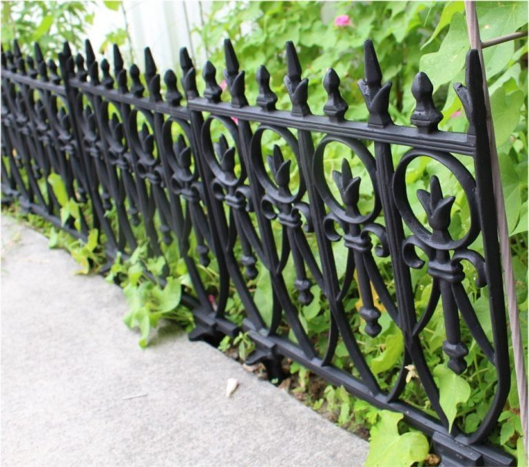 Victorian Garden Fence Heavy Antique Style Old English Lawn Edging
