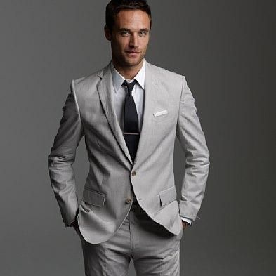 j crew's fine stripe cotton ludlow suit in pale gray... for ...