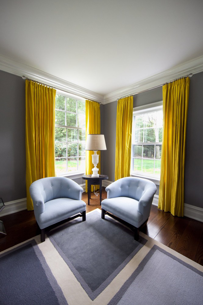 Grey And Bright Yellow Ic Mekan Fikirleri Oturma Odasi Fikirleri Ev Dekoru #yellow #and #gray #living #room #curtains