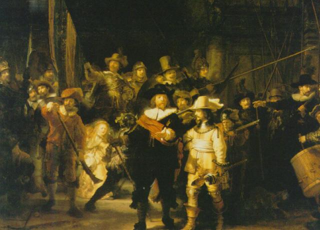 Rembrandt.Yövartio, 1642. Kangas, 370 x 445cm