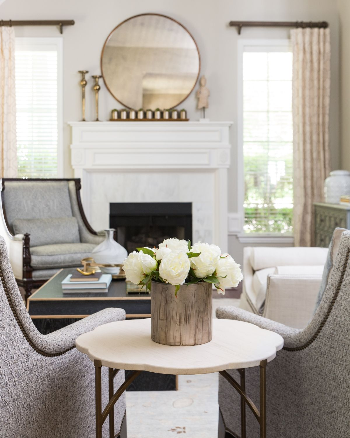 Project Reveal Traditional And Timeless In The Woodlands Terravista Interior Design Group Quality Living Room Furniture Transitional Interior Design Dining Room Updates